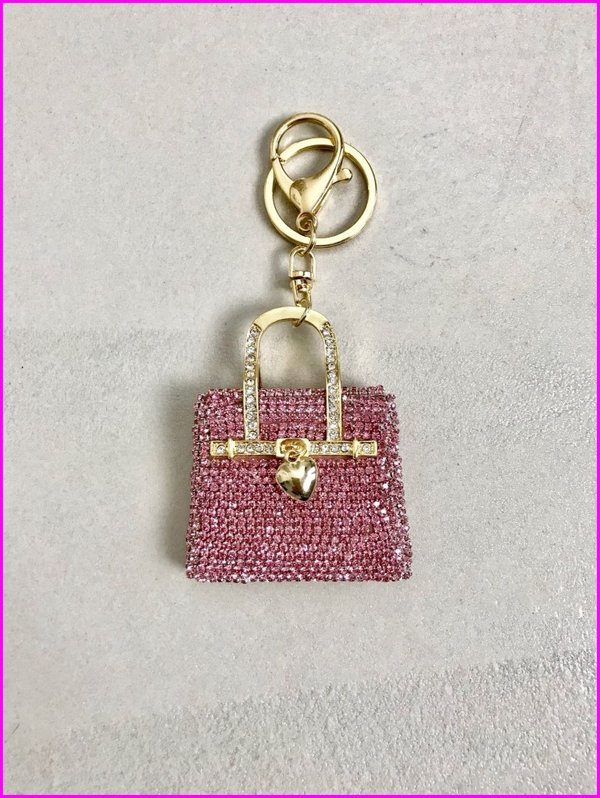 Charms mini bag in swarovski rosa.