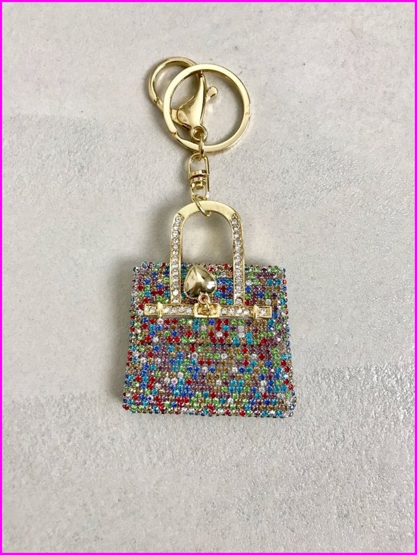 Charms mini bag in swarovski multicolore.