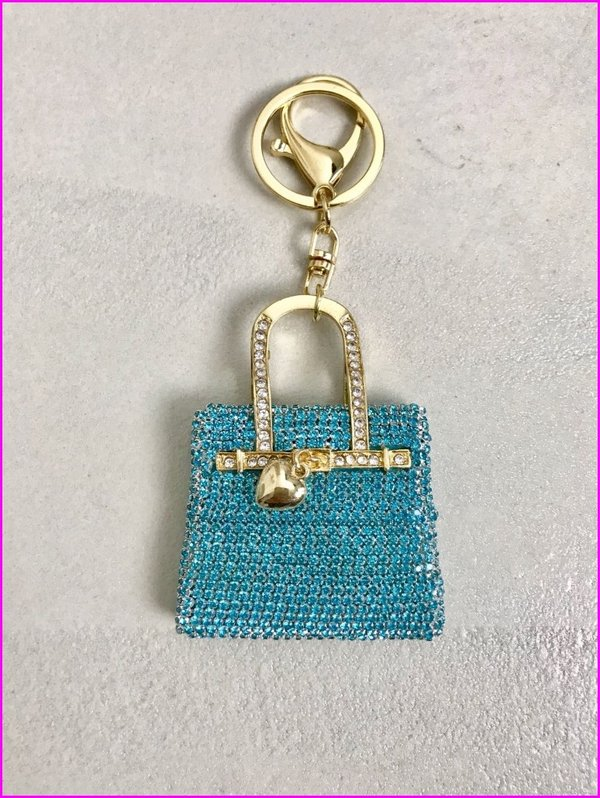 Charms mini bag in swarovski tiffany.